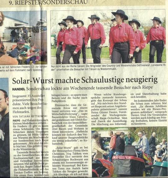 Ostfriesenzeitung 25.04.05