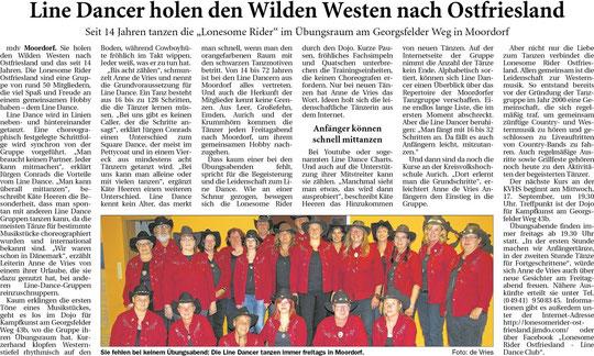 """""""Ostfriesische Nachrichten"""" 26.08.2014"""