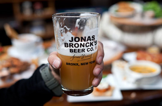 The Bronx Beer Hall sells a beer named after the borough's founder.