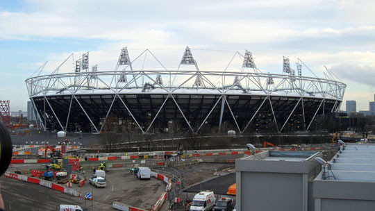 Olympic Stadium  London near to completion