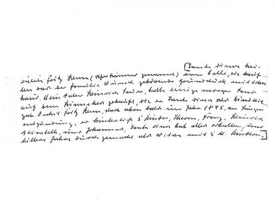 Handschrift Sütterlin, Johannes Sauer, Dina Maria Sauer, Bernhardine Sauer