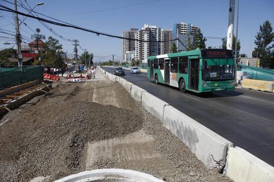 Los trabajos en la avenida Vicuña Mackenna comenzaron hace dos años.