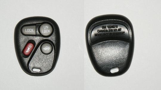 Ersatz Gehäuse und Ersatz Gummis für Fernbedienung des Opel Sintra