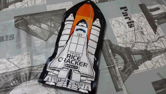 Des petits senbeis vendus à l'exposition sur l'espace