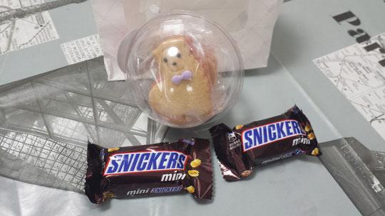 Des gourmandises chocolatées et un biscuit en forme de mouton