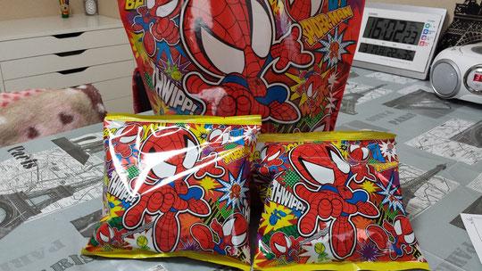 Des gâteaux salés des studios Universal d'Osaka, Spiderman!