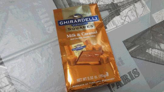 Des chocolats au lait et au caramel provenant des Etats-Unis.