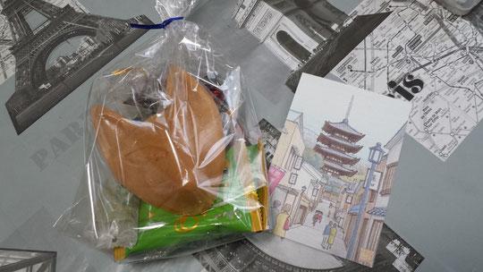 Des souvenirs à croquer de Kyoto et une carte postale