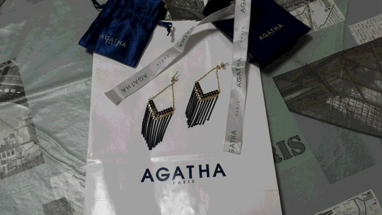 De magnifiques boucles d'oreille de chez Agatha en souvenir d'un voyage en France