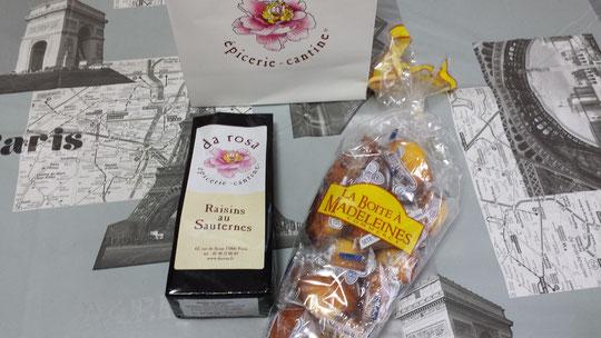 Souvenirs de France : des madeleines et des raisins secs au vin de Sauternes