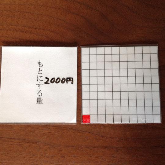 写真4 もとにする量を500円にした例
