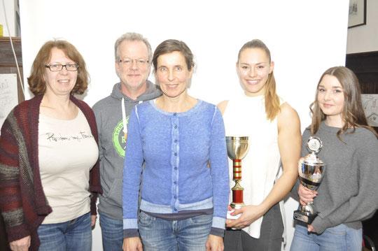 die neue Vorstandschaft vlnr, Andrea Darscheid, Burkhard Birker, Brigitte Bezold, Sonja Schlosser und Karina Sebald