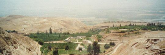 Blick über das fruchtbare Jordantal