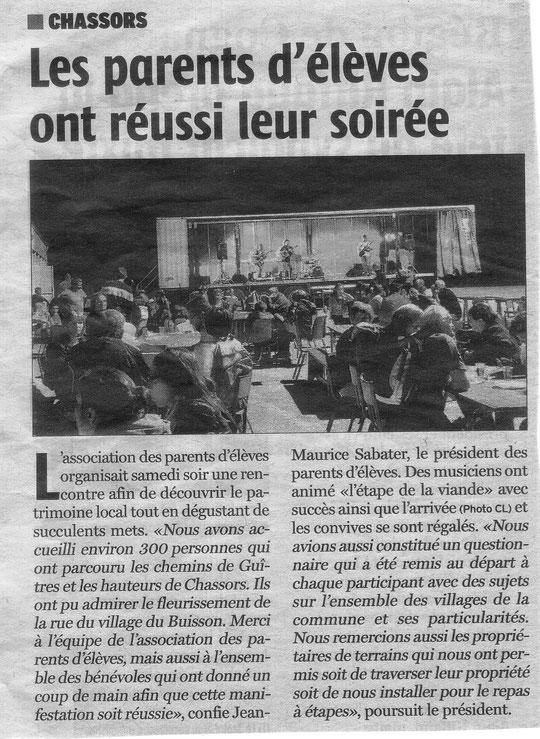 Article Charente Libre du 5 juin 2014