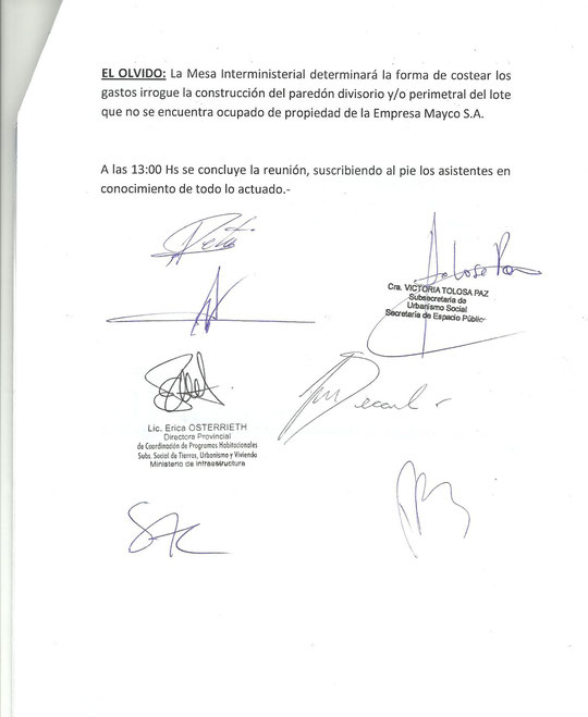 Acta Reunion con la Mesa Provincial (29 de Octubre de 2012)