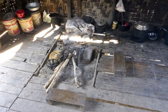 Fireplace and kichen in Laos