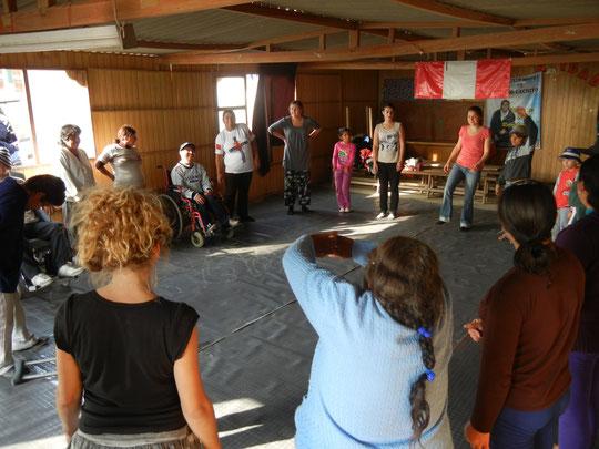 Cuerpo presente; Associacion de personas con discapacidad «Cerro cachito»; Pachacutec Ventanilla, Callao; De Agosto hasta Noviembre 2012