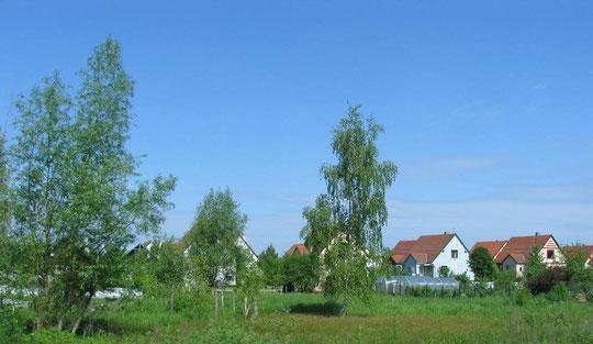 Посёлок без названия но имеет придорожную каплицу и католическую капеллу, Построен немцами ФРГ для немцев русских