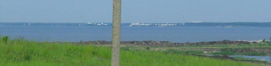 появляется калградский залив на той стороне город Светлый (Пайза-Цимербуде)