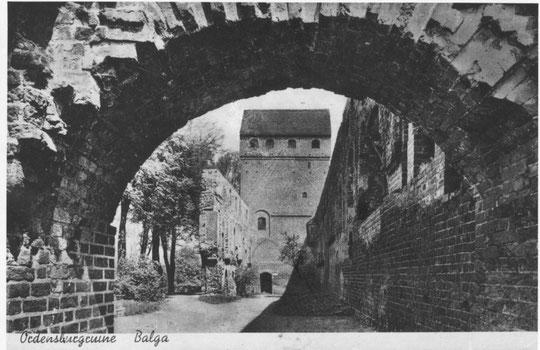 Бальга до 1945 г. остатки форбурга