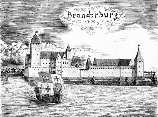 замок Бранденбург со стороны залива реконструкция А.П.Бахтин рис. Осипова