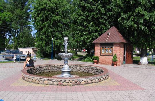 Городской фонтан, смешанный стиль советского класицизма с антикой