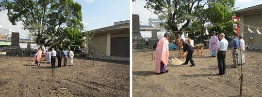 NHK大河ドラマ平清盛ゆかり和田宮(和田神社)祖霊殿(みたまや)新築工事地鎮祭の写真