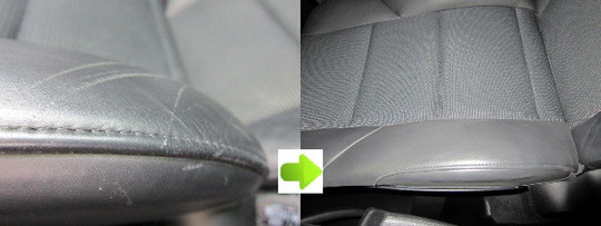 BMWレザーシート傷リペアの写真ビフォーアフター3