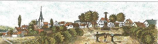 Ausschnitt aus Postkarte von vor 1910. Die Fläche unterhalb Lindenplatzes ist noch vollkommen frei. Das Denkmal wurde 1897 errichtet, erkennbar ist auch der sog. Lennetisch, der bereits 1839 aufgestellt wurde.