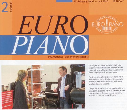 Der Klangspiegel am Stand der Fa. Jahn-Pianoteile