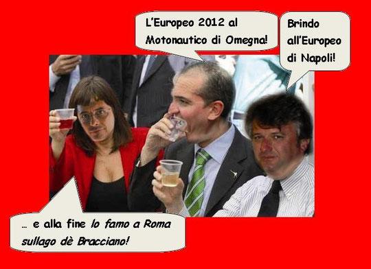 Polverone, l'Umberto e Paissanno brindano all'accordo.