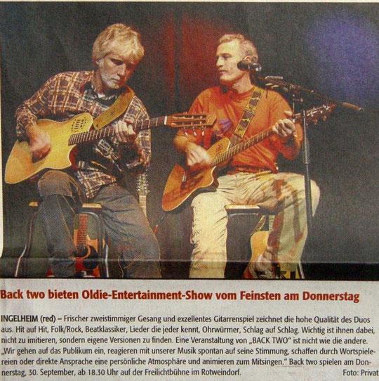 Open-Air Konzert Freilichtbühne Inglheim