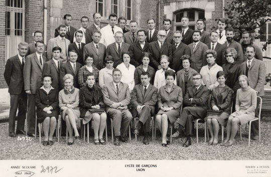 photo de classe Laon 1968 -profs