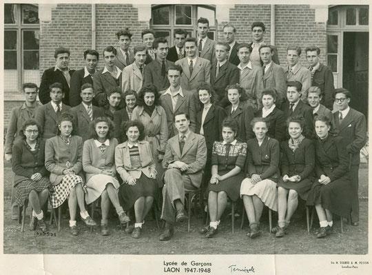 photo de classe Laon 1948 -Terminale