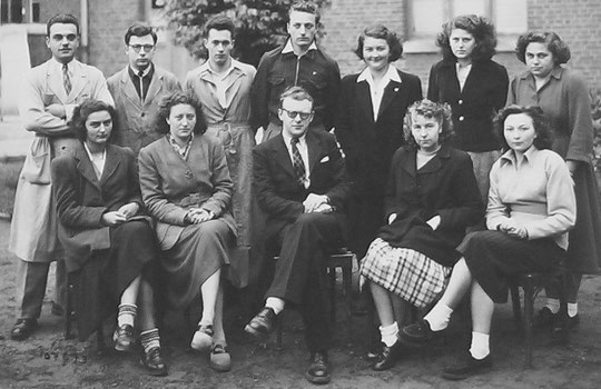 photo de classe Laon 1950 Sciance-Ex -prof Boulet