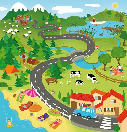 Illustration pour puzzle Celda et Asco