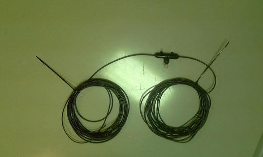 Antena doble bazooca para 40 mts de construccion propia