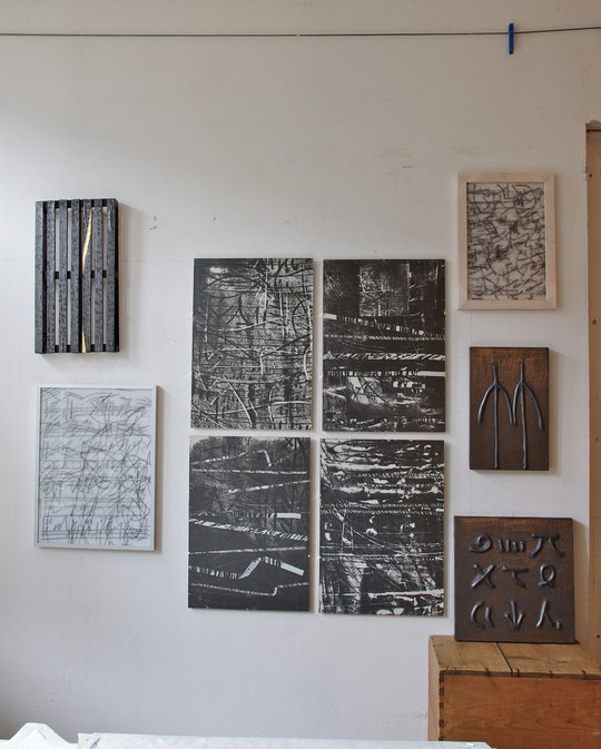 studio  2012     music scores and works with  graphite  powder