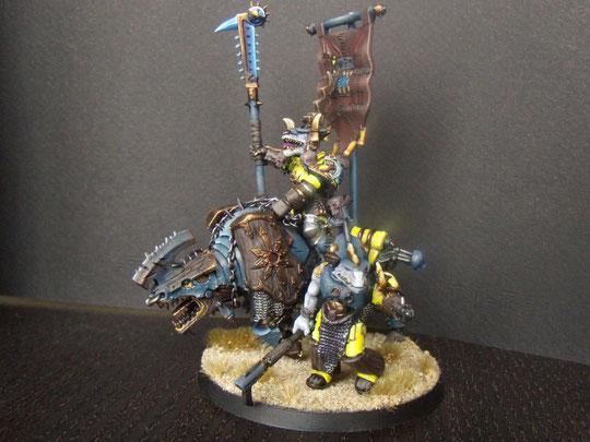 khorne reptor lord on juggernaut warhammer 40k