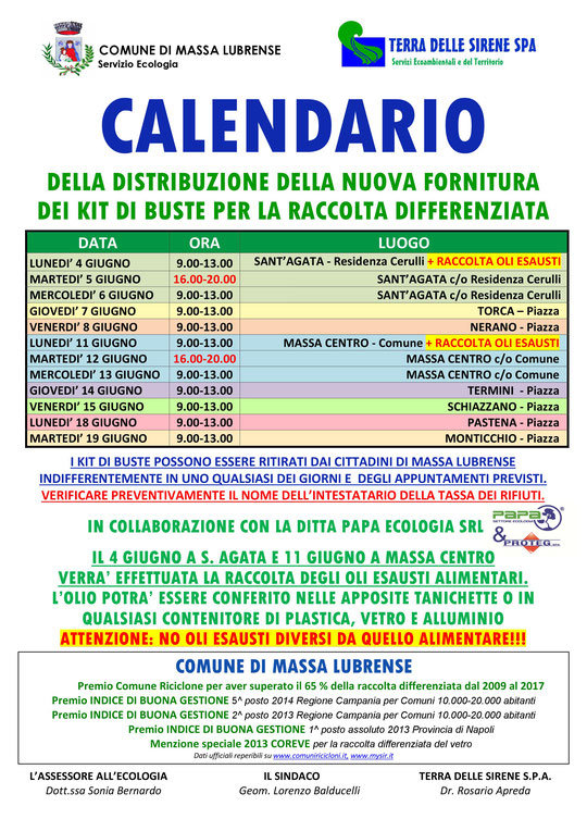 Calendario Raccolta Differenziata Teramo.Terra Delle Sirene Spa Terradellesirenespa