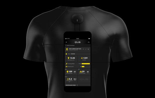 Mit dem Qus-Smartshirt ist man während den Einheiten richtig aufgehoben.