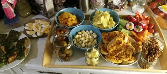 Filmabend-Abendessen - hübsch eingefüllt ist es noch viel einladender