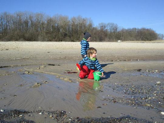 Nochmal erster Kindergartentag am Strand - ein kleines Paradies