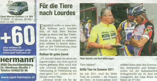 """Zeitung: """"Woche"""" 2.Juni 2010"""