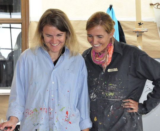 Sonja aus Zürich und ich beim Kurs am Wildkogel