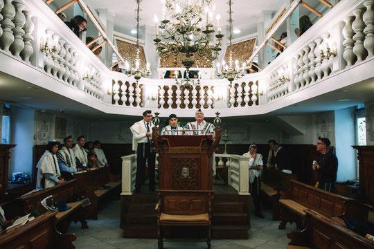 בית הכנסת האיטלקי - מבט מבפנים