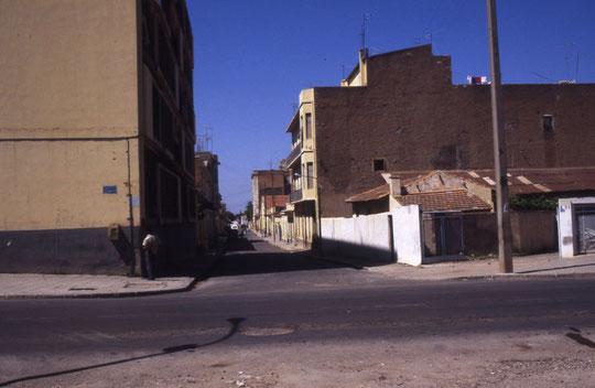 Rue Renan depuis les jardins Barret