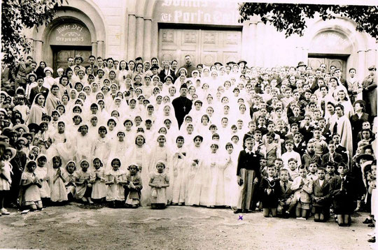 La Communion privée en 1940 - Doc. Lagarde Hubert. cliquer sur la photo pour l'agrandir.