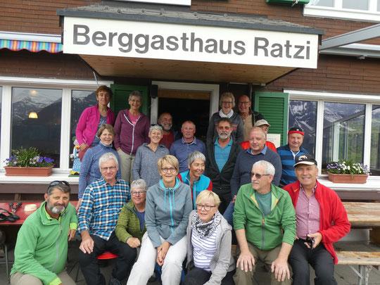 Erste Wandergruppe 2019 bei uns zu Gast auf der 2 - Tageswanderung