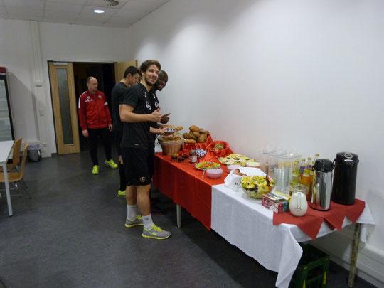 Frühstücksservice bei Dynamo Dresden
